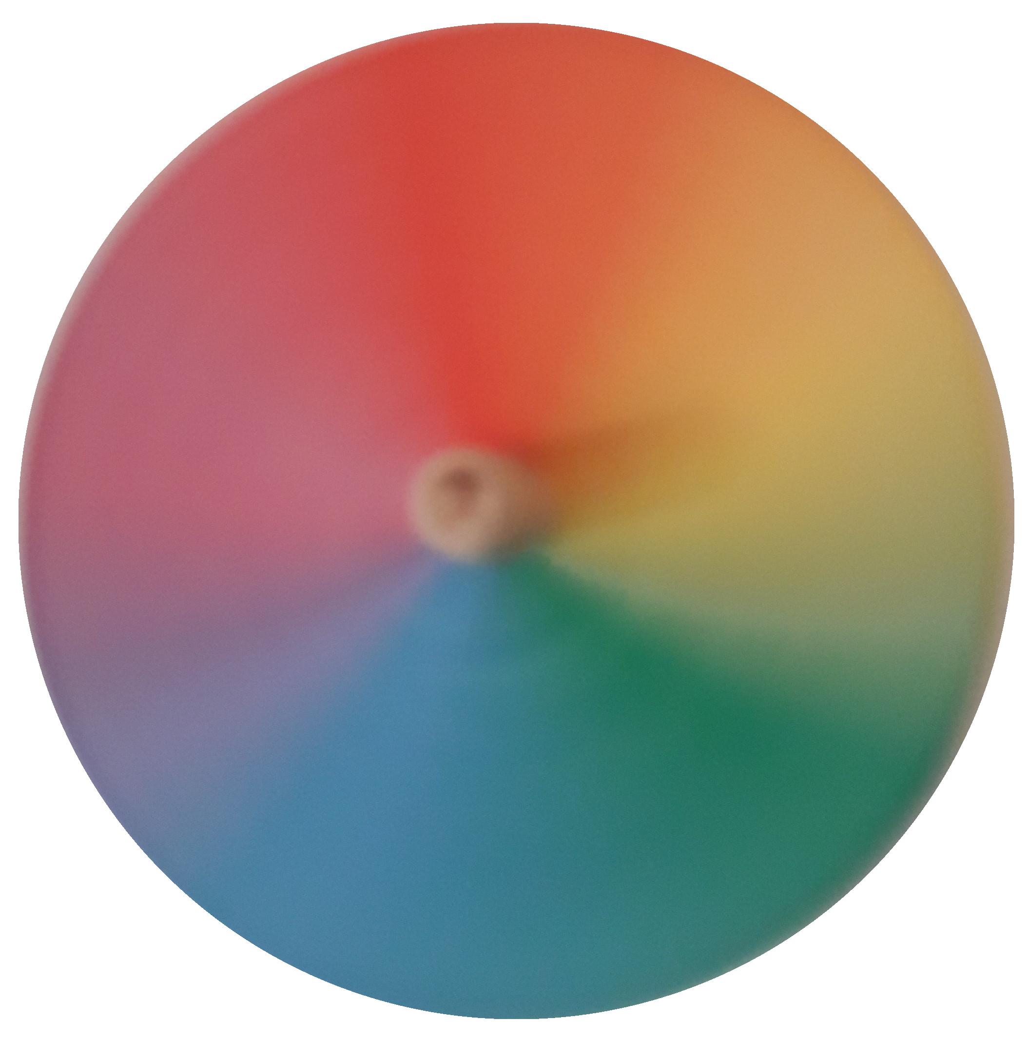 fertig erstellter Farbkreisel
