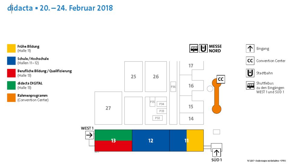 Geländeplan didacta 2018